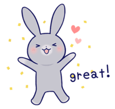 Lovey-dovey rabbit Gray rabbit ver 2 sticker #10317625