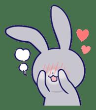 Lovey-dovey rabbit Gray rabbit ver 2 sticker #10317626