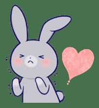 Lovey-dovey rabbit Gray rabbit ver 2 sticker #10317627