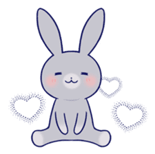 Lovey-dovey rabbit Gray rabbit ver 2 sticker #10317633