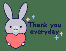 Lovey-dovey rabbit Gray rabbit ver 2 sticker #10317635