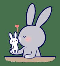 Lovey-dovey rabbit Gray rabbit ver 2 sticker #10317636