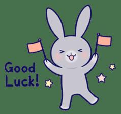 Lovey-dovey rabbit Gray rabbit ver 2 sticker #10317637