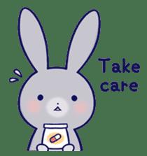 Lovey-dovey rabbit Gray rabbit ver 2 sticker #10317638