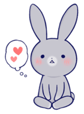 Lovey-dovey rabbit Gray rabbit ver 2 sticker #10317646