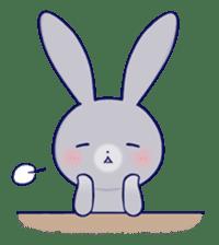 Lovey-dovey rabbit Gray rabbit ver 2 sticker #10317647