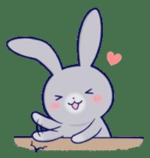 Lovey-dovey rabbit Gray rabbit ver 2 sticker #10317648