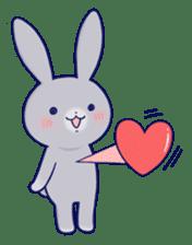 Lovey-dovey rabbit Gray rabbit ver 2 sticker #10317649