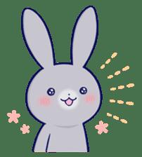 Lovey-dovey rabbit Gray rabbit ver 2 sticker #10317653