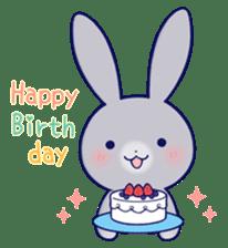 Lovey-dovey rabbit Gray rabbit ver 2 sticker #10317655