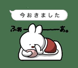 rabbit is enjoying 8 sticker #10319662
