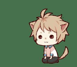 dog&cat(dogboy side) sticker #10323391