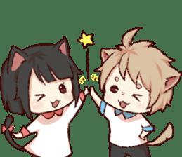 dog&cat(dogboy side) sticker #10323408