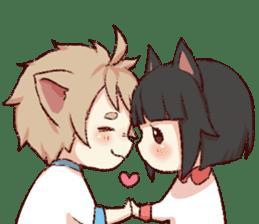 dog&cat(dogboy side) sticker #10323409