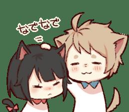 dog&cat(dogboy side) sticker #10323413