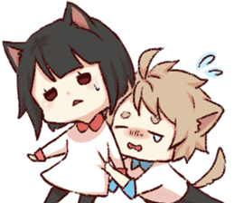 dog&cat(dogboy side) sticker #10323414