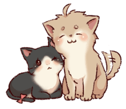 dog&cat(dogboy side) sticker #10323415