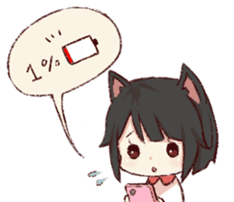 dog&cat(catgirl side) sticker #10323498