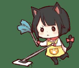 dog&cat(catgirl side) sticker #10323519
