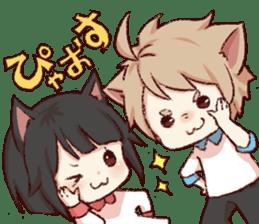 dog&cat(catgirl side) sticker #10323527