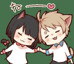 dog&cat(catgirl side) sticker #10323528