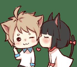dog&cat(catgirl side) sticker #10323529