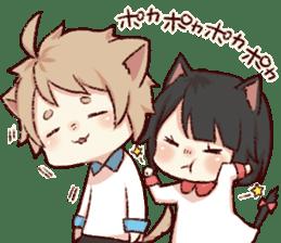 dog&cat(catgirl side) sticker #10323531