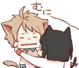 dog&cat(catgirl side) sticker #10323532