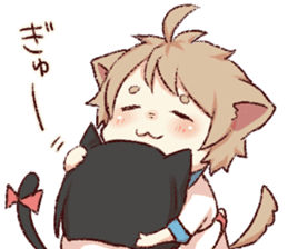 dog&cat(catgirl side) sticker #10323533
