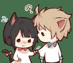 dog&cat(catgirl side) sticker #10323534