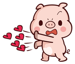 Cutie Piggy sticker #10330536