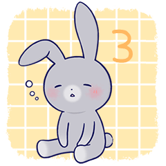 Lovey-dovey rabbit Gray rabbit ver 3