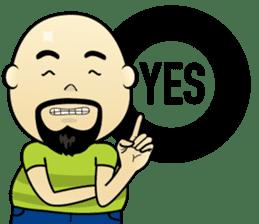 Meng Jax, Bald Man sticker #10347960