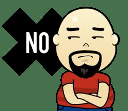 Meng Jax, Bald Man sticker #10347961