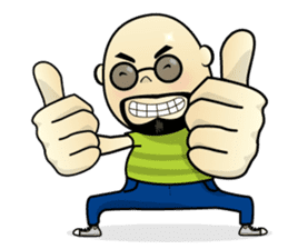 Meng Jax, Bald Man sticker #10347971