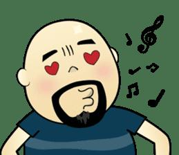 Meng Jax, Bald Man sticker #10347974