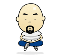 Meng Jax, Bald Man sticker #10347996