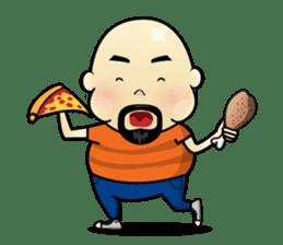 Meng Jax, Bald Man sticker #10347997