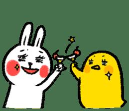 Lazy Rabbit & Mr.Chu 3 sticker #10357065