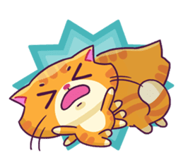 Ringer Ginger Kitty Cat sticker #10363090