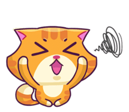 Ringer Ginger Kitty Cat sticker #10363095