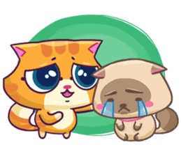 Ringer Ginger Kitty Cat sticker #10363097