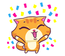 Ringer Ginger Kitty Cat sticker #10363112