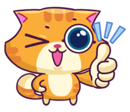 Ringer Ginger Kitty Cat sticker #10363117