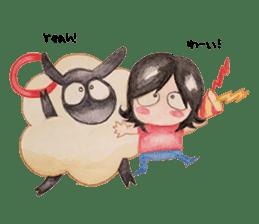 Little Lamb Beee 2 sticker #10366119
