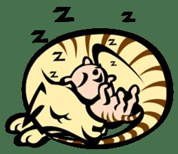 Animal parent and child in Australia sticker #10369021
