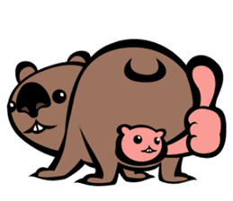 Animal parent and child in Australia sticker #10369032