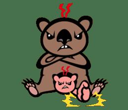 Animal parent and child in Australia sticker #10369033