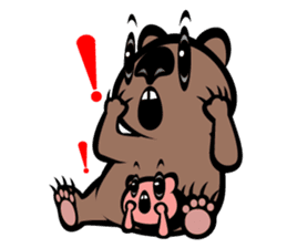 Animal parent and child in Australia sticker #10369036