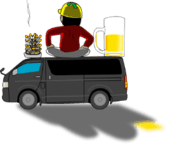 Yellow helmet 3 sticker #10371119